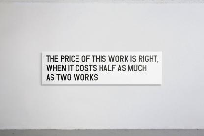 THE PRICE OF THIS WORK IS RIGHT, WHEN IT COSTS HALF AS MUCH AS TWO WORKS