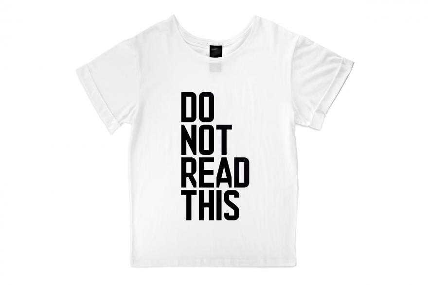 DO NOT READ THIS T-shirt