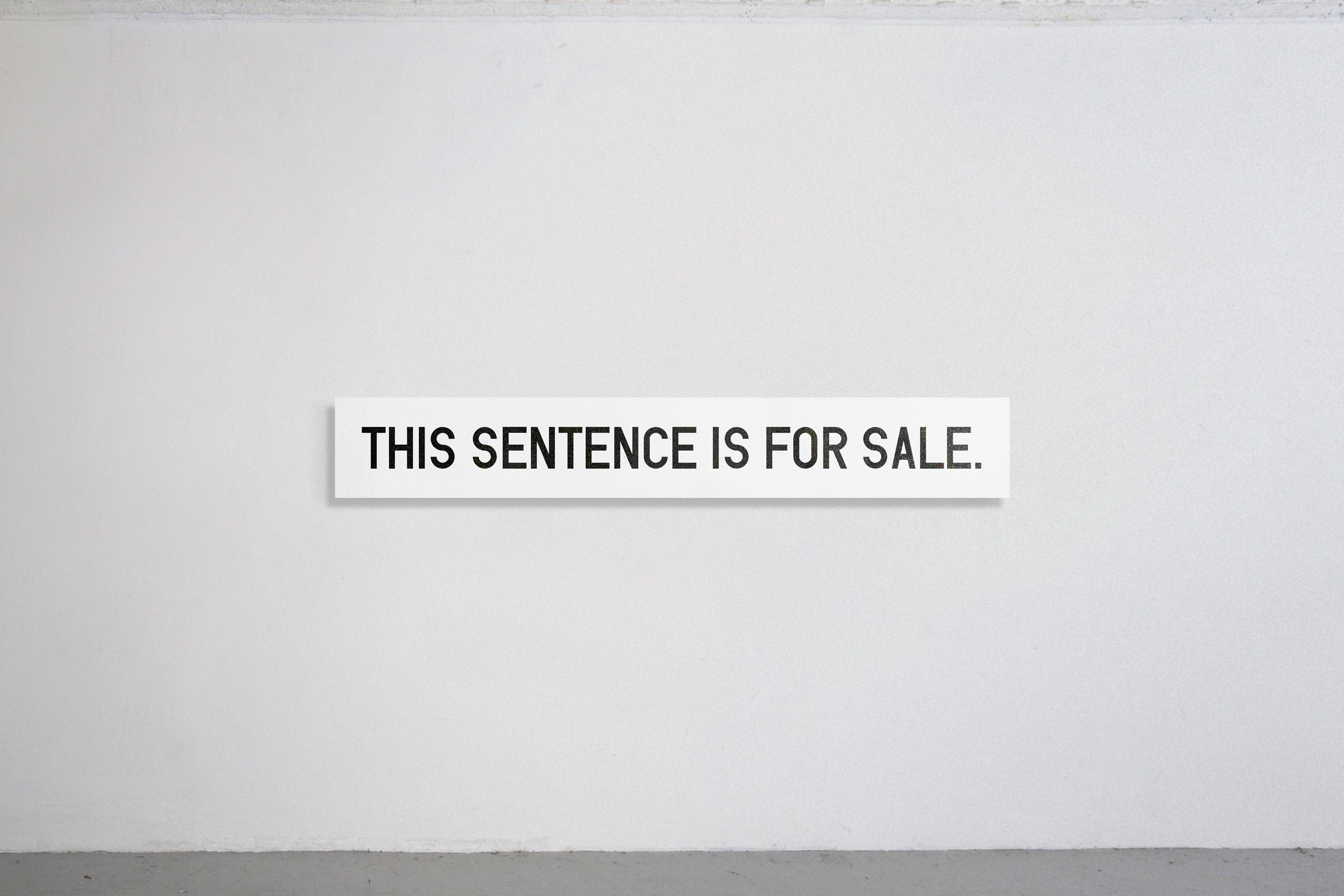 THIS SENTENCE IS FOR SALE.